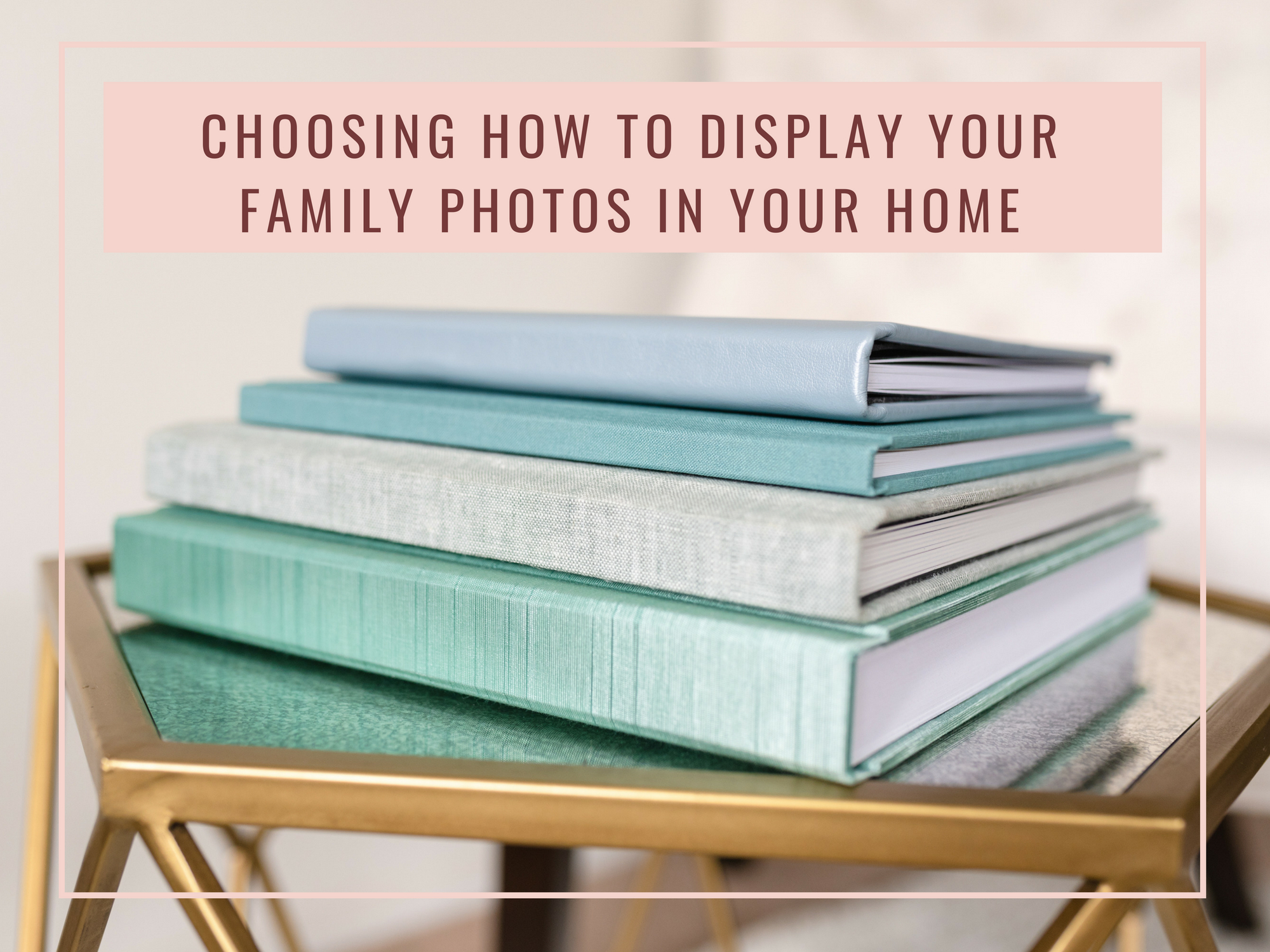 photo book with family photos