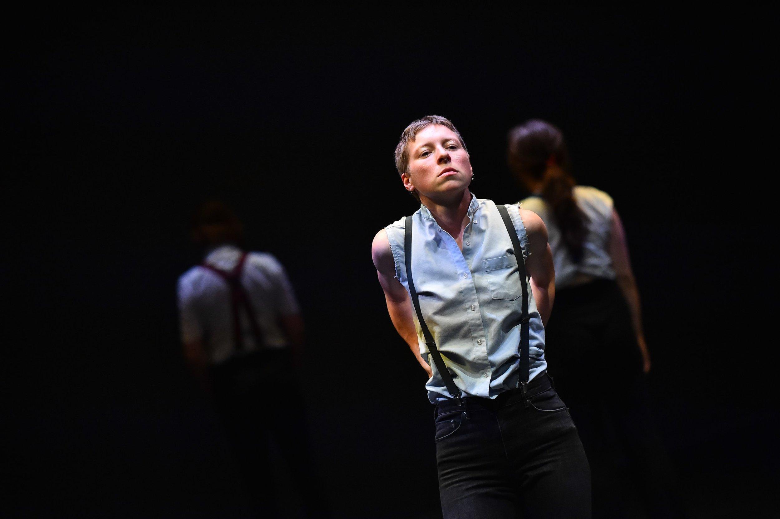 """Go On, Refuse Me."" Dance-theater performance. July 2017, Joe Goode Annex, San Francisco, CA, USA."