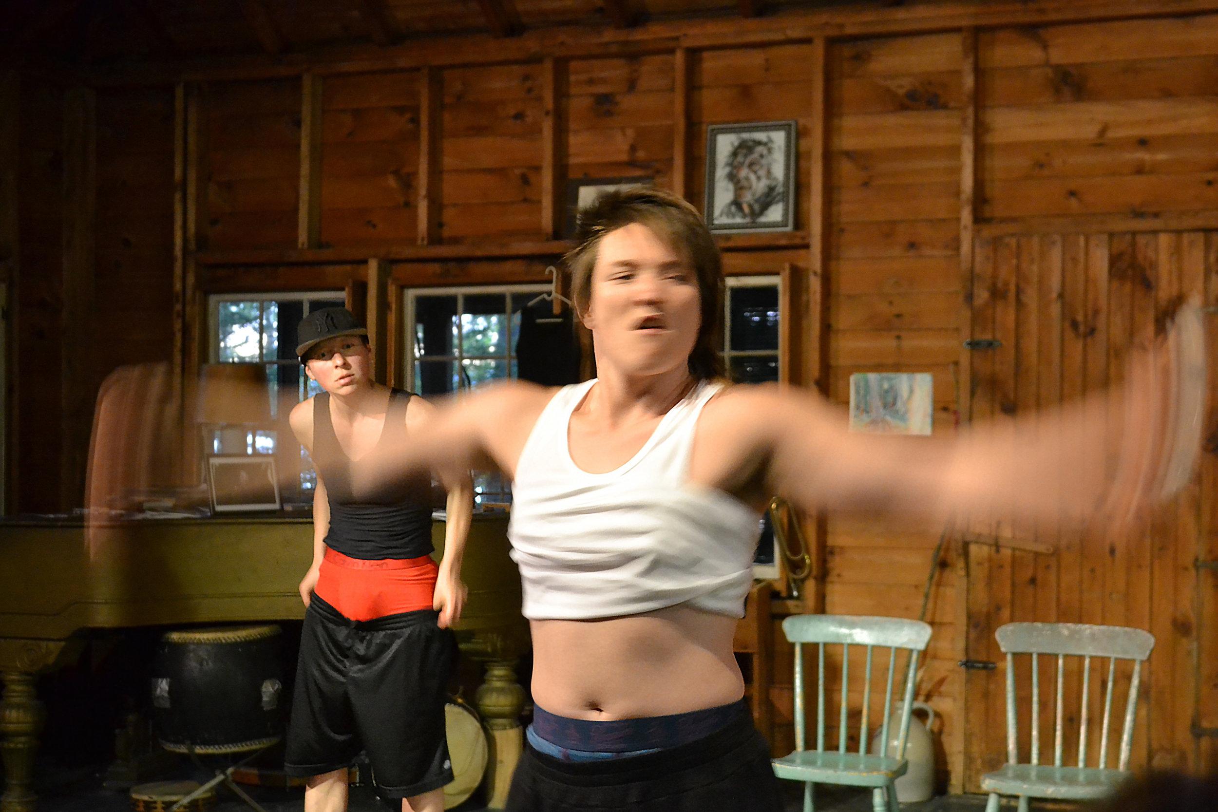 BroVogue, performance. July 2017, art residency, Bearnstow, Maine, USA