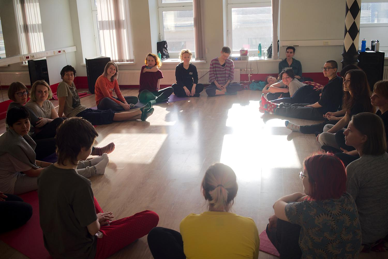 Telaboratoria ongoing classes, St. Petersburg. April 2019. Credit: Asta