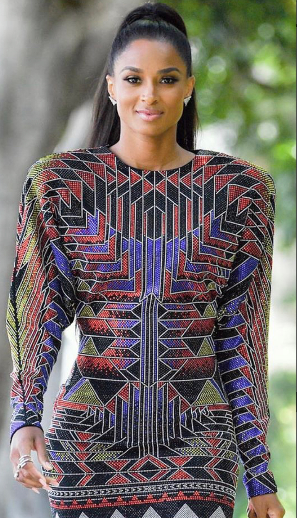 Ciara wearing Marli's Fifi Multi-Strand ring to her new show America's Most Musical Family