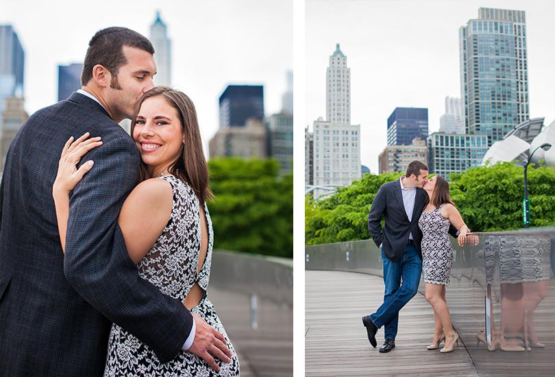 Downtown Chicago engagement portrait