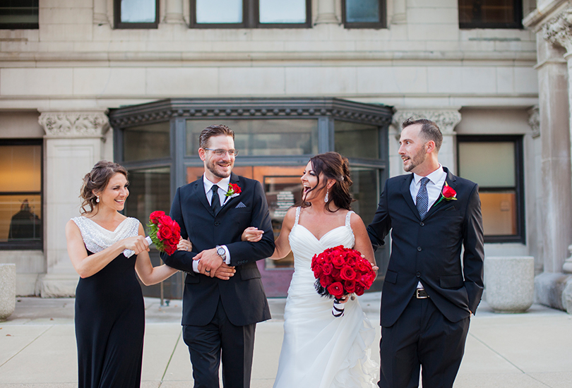 Silly bridal portrait Greenfield Indiana