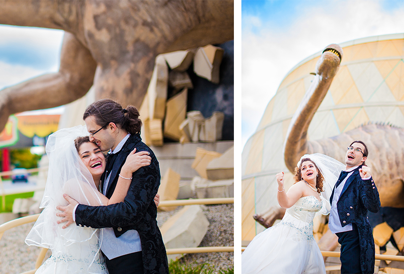 Nerdy wedding photographer at the Childrens Museum