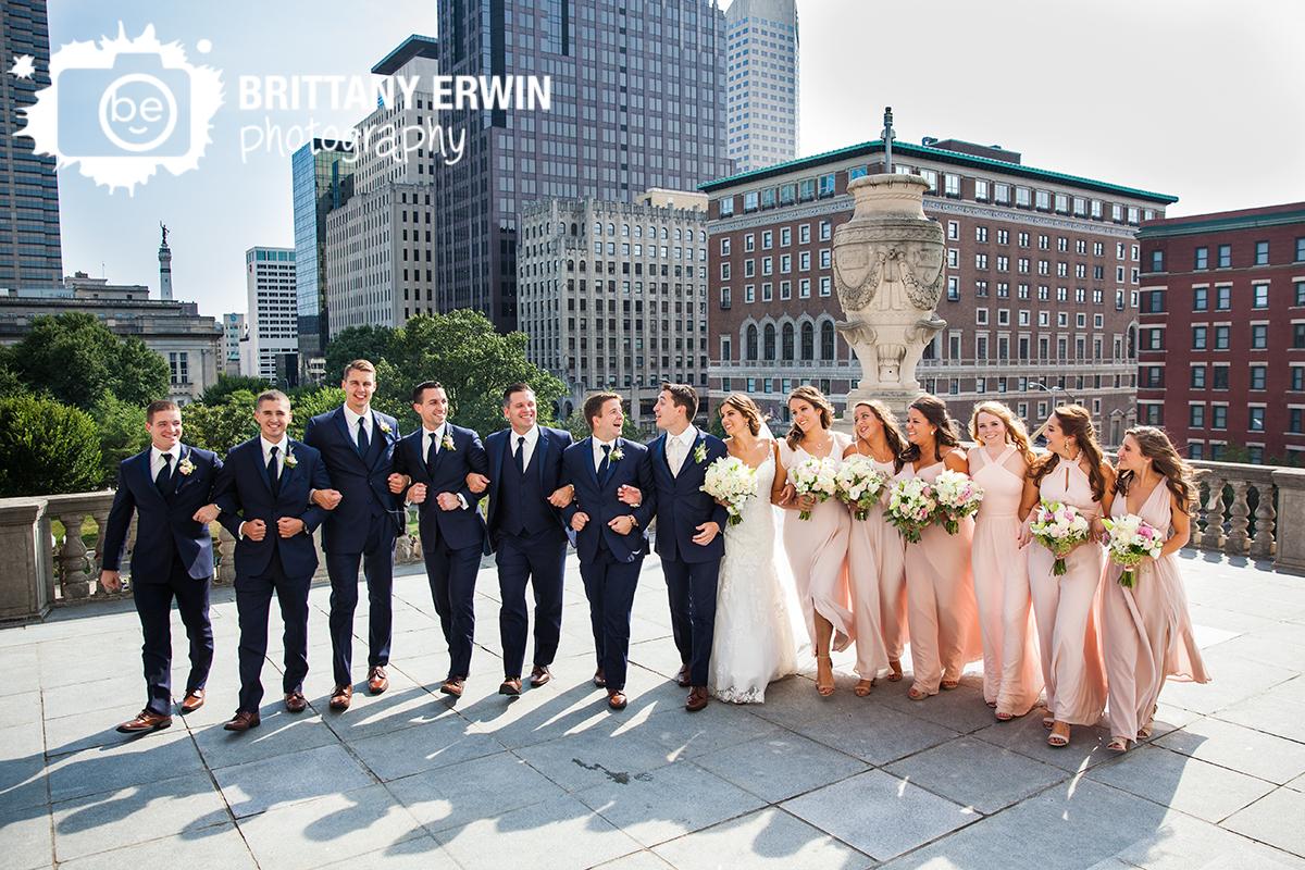 Indianapolis-bridal-party-group-photo-at-Indiana-world-war-memorial-wedding-photogrpaher-downtown.jpg