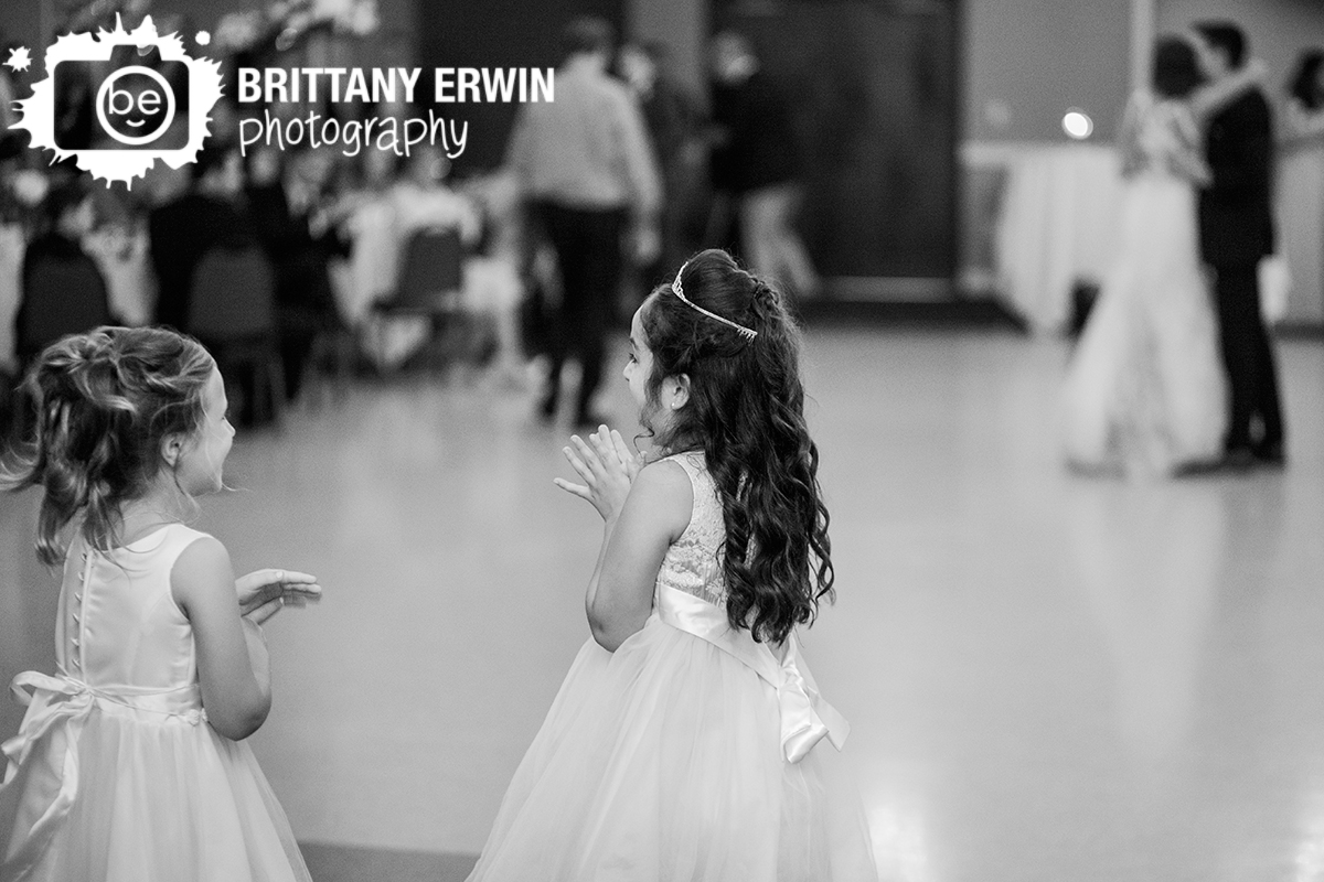 Indianapolis-reception-wedding-photographer-the-palms-flower-girl-reaction-first-dance.jpg
