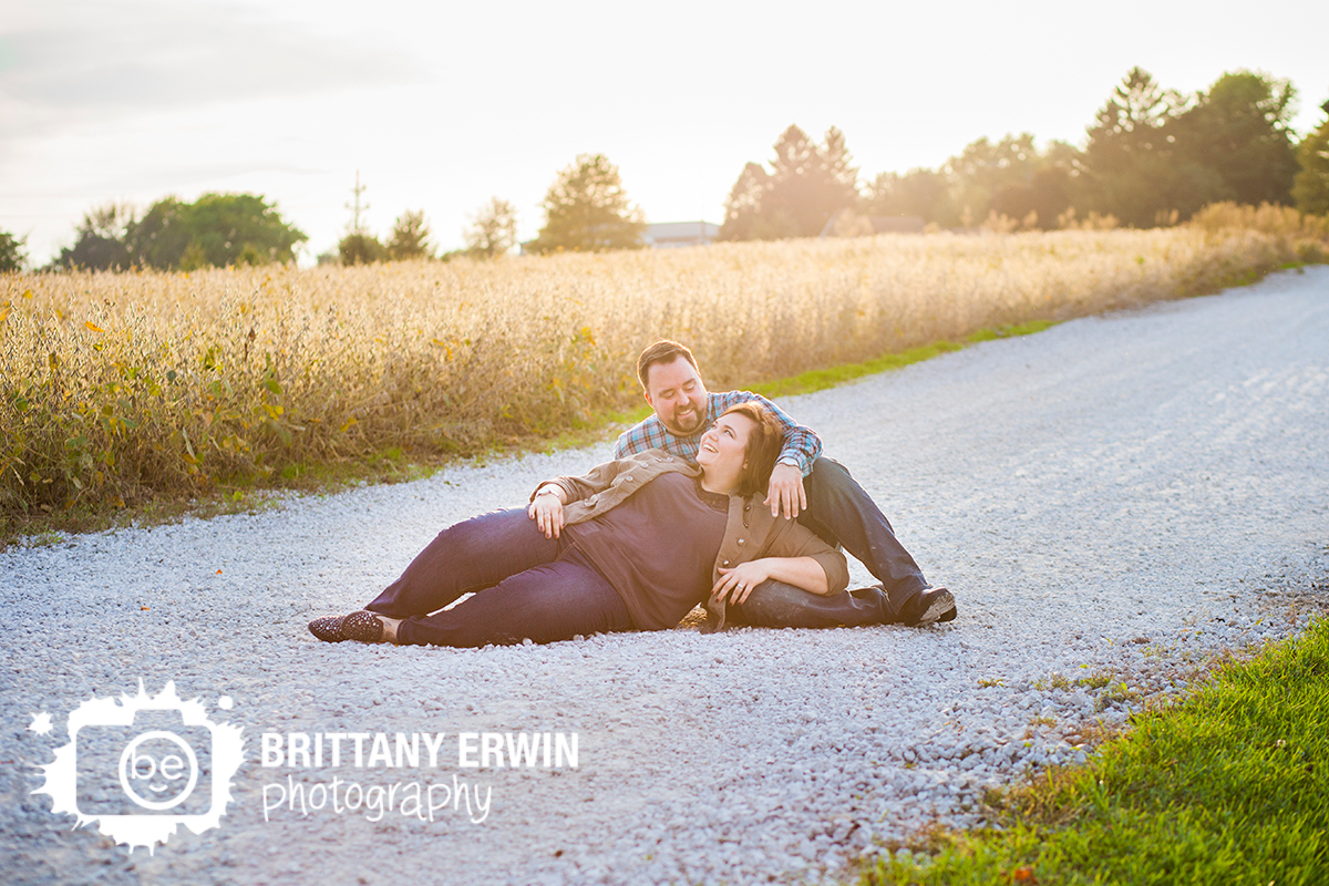 Indianapolis-fall-sunset-engagement-portrait-photographer-field-gravel-path.jpg