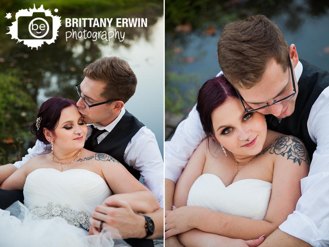 Indianapolis-wedding-photographer-couple-on-bridge-pond-Hillcrest-Country-Club-sunset.jpg