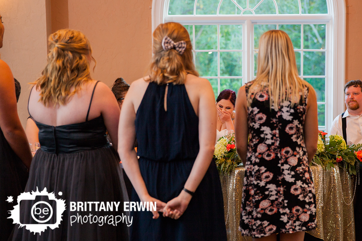 Indianapolis-wedding-reception-photographer-toast-sorority-song-bride-reaction-Hillcrest-Country-Club.jpg