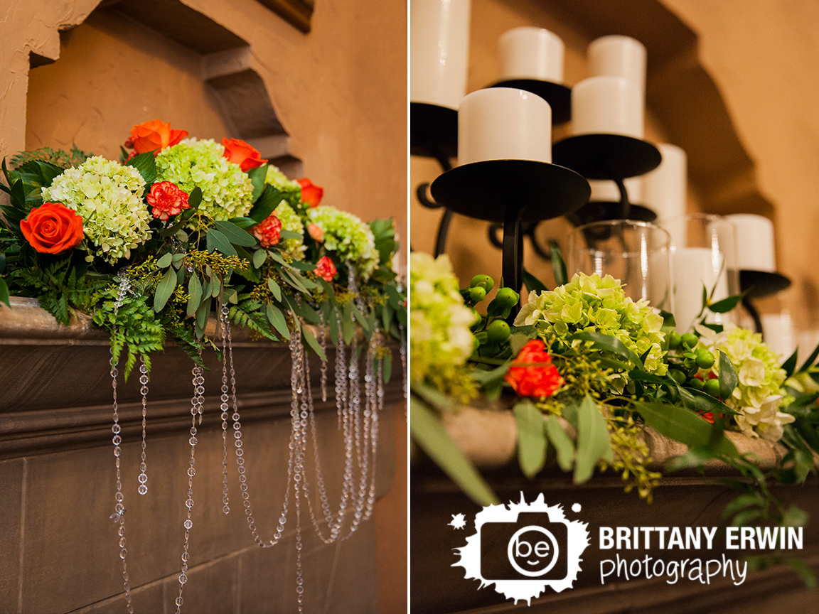 Indianapolis-wedding-photographer-mantle-flower-piece-ruble-flowers-Hillcrest-Country-Club.jpg