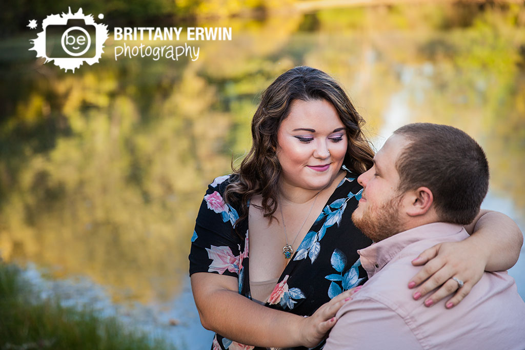 Indianapolis-engagement-portrait-photographer-couple-by-pond-Brittany-Erwin-Photography.jpg