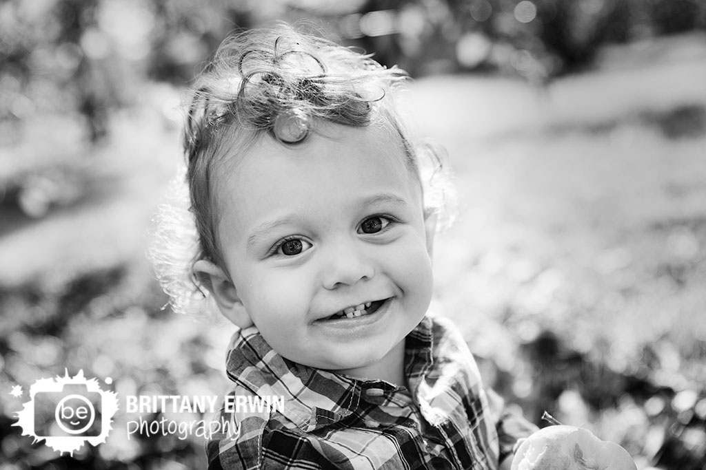18 month old baby boy portrait photographer fall plaid