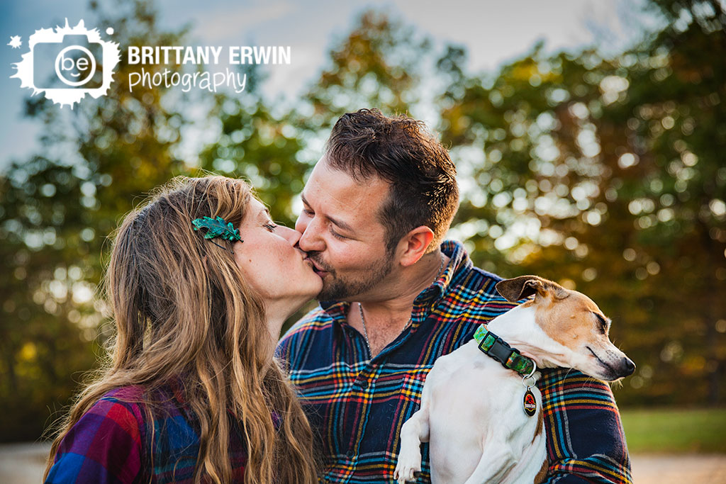 Brown-County-Nashville-Indiana-park-anniversary-portrait-photographer-kiss-dog-looking-away-Brittany-Erwin-Photography.jpg