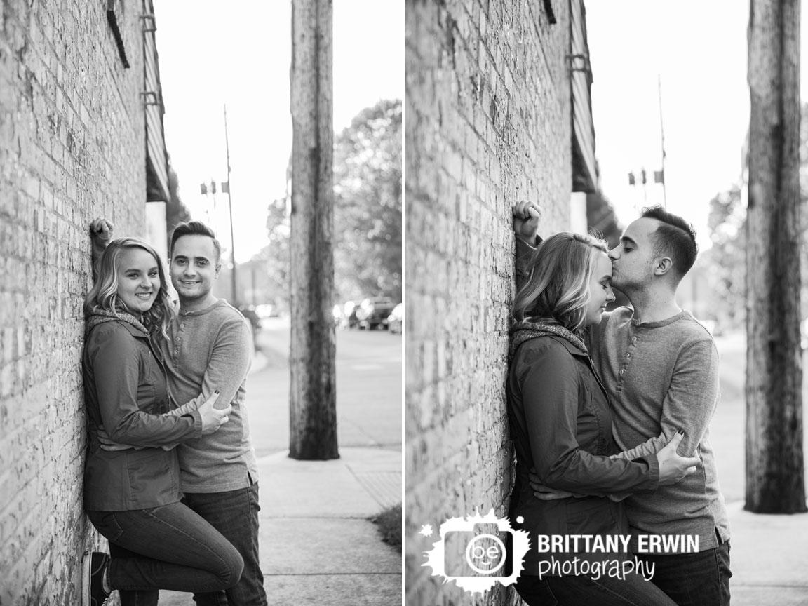 Irvington-Indiana-brick-wall-rustic-engagement-portrait-photographer-Brittany-Erwin-Photography.jpg