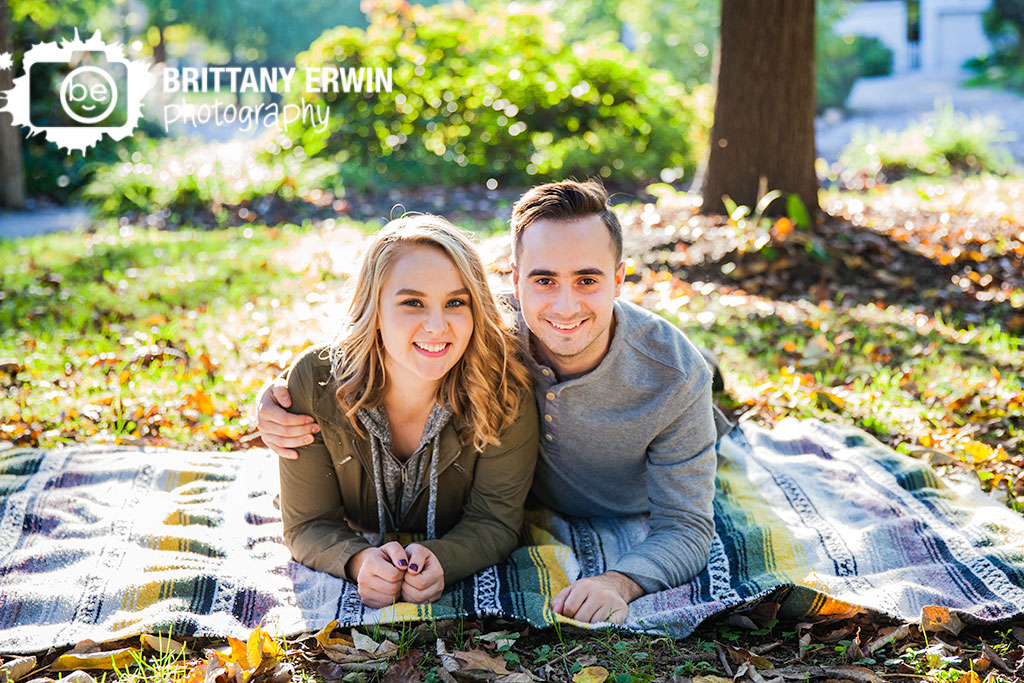 Irvington-Indiana-engagement-portrait-photographer-couple-on-blanket-fall-Brittany-Erwin-Photography.jpg