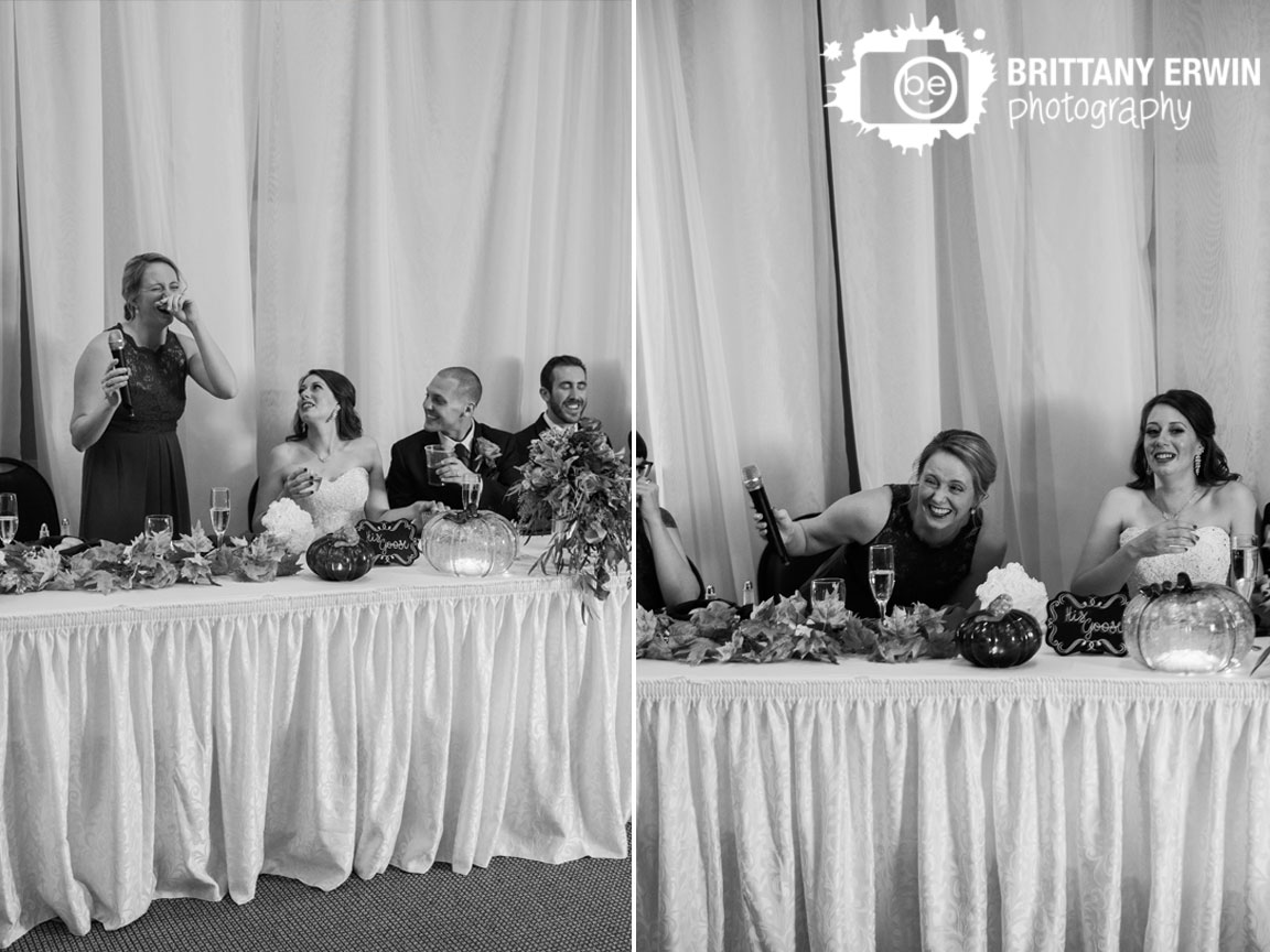 Noblesville-Indiana-wedding-photographer-reception-speech-maid-of-honor-toast-funny-reaction.jpg