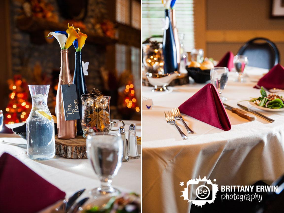 Purgatory-Golf-Club-fall-wedding-reception-photographer-wine-bottle-leaf-centerpiece.jpg