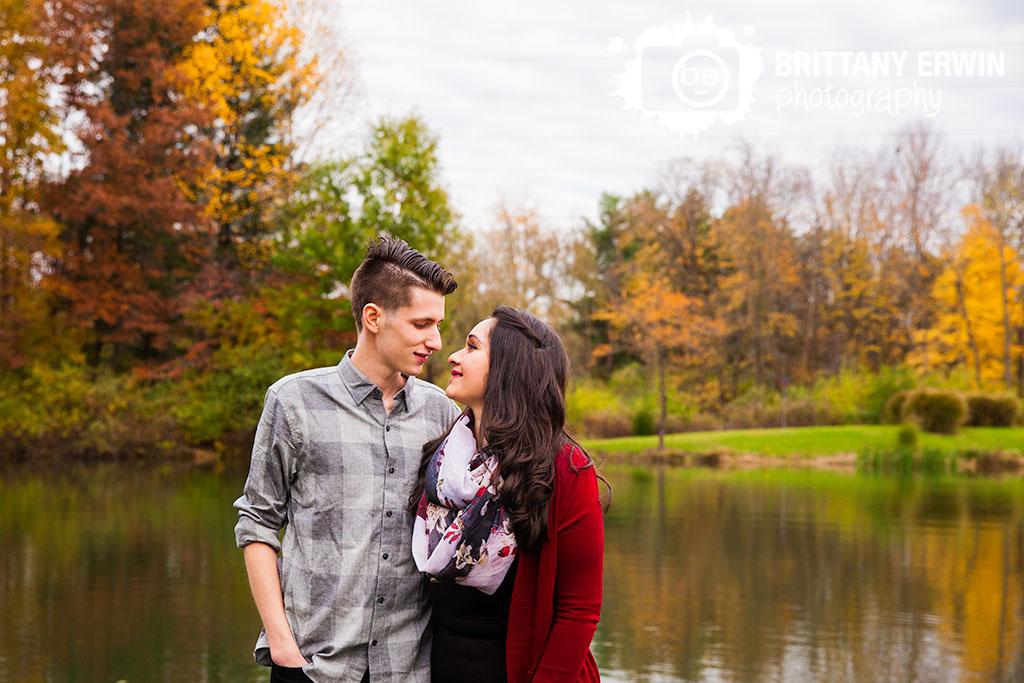 Indianapolis-fall-lake-portrait-engagement-photographer-couple-autumn-leaves.jpg