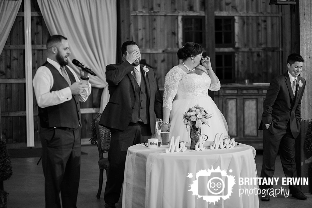 The-Barn-at-Kennedy-Farm-wedding-photographer-bride-groom-reaction-toast-by-best-man.jpg