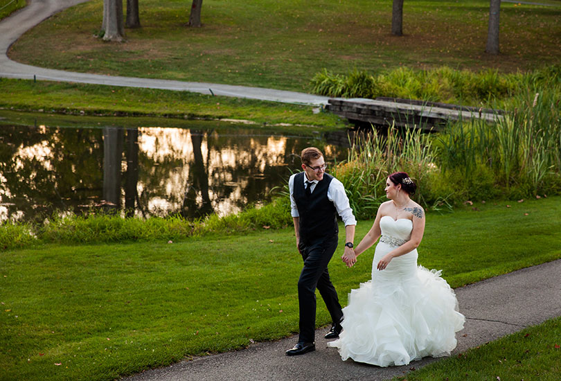 Hillcrest Country Club Indiana wedding photographer