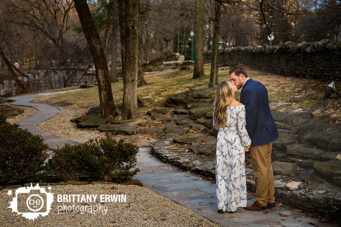 Bloomington-Indiana-University-couple-engagement-photographer-kiss-walking-on-path.jpg