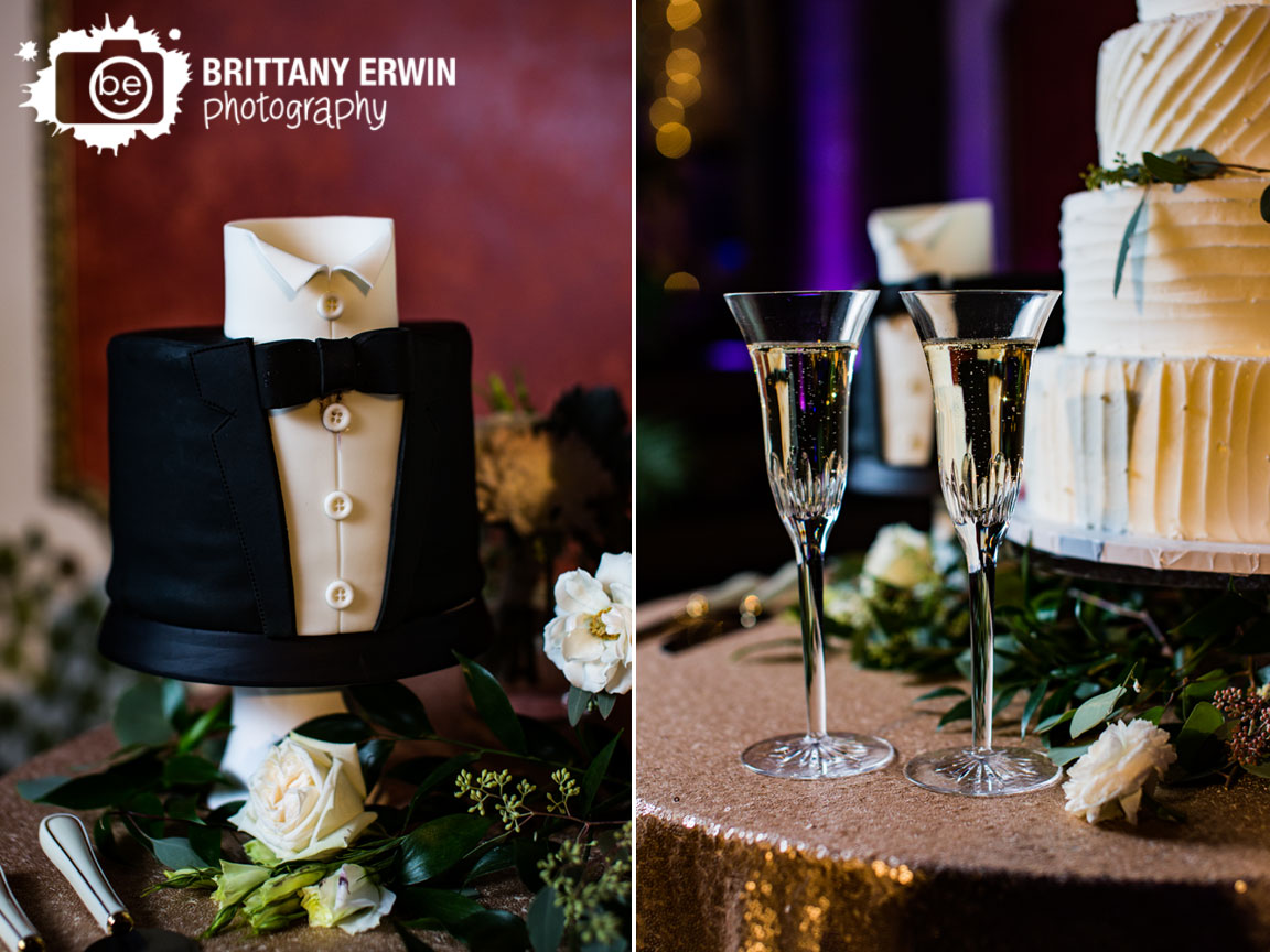Indianapolis-wedding-reception-photographer-gold-sequin-table-cloth-cake-table-groom-fondant.jpg