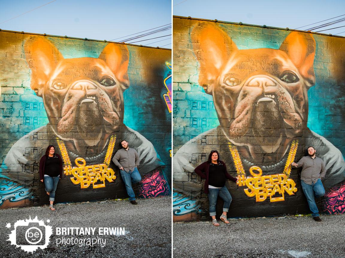 Fountain-Square-grafitti-maternity-portrait-photographer-bulldog-speed-beard-mural.jpg