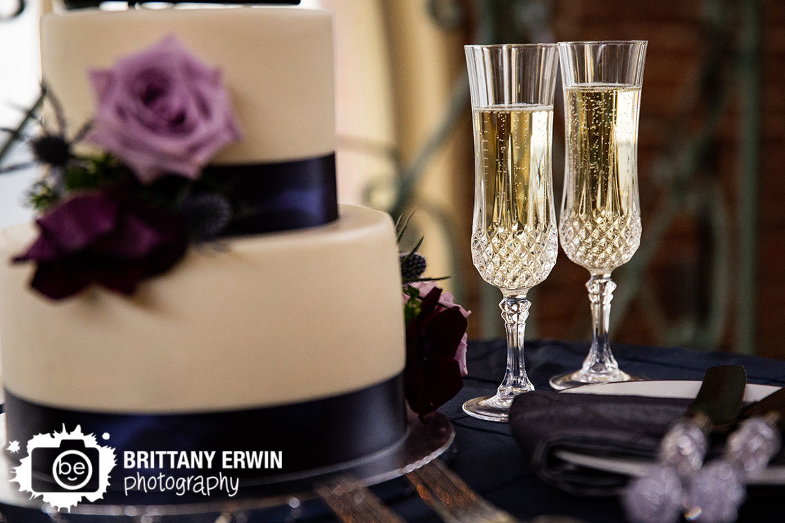 Downtown-Indianapolis-wedding-reception-photographer-cake-flowers-toasting-flutes-champagne.jpg