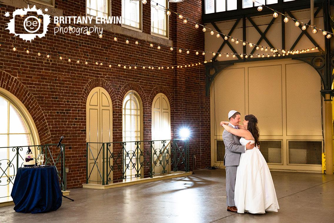 Downtown-Indianapolis-City-Market-wedding-reception-photographer-first-dance-brick-walls.jpg