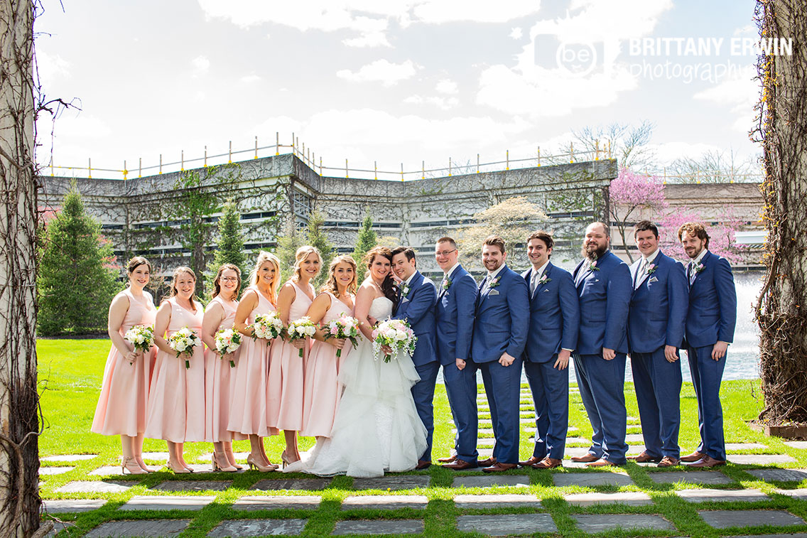 Columbus-Indiana-bridal-party-cummins-group-outdoor-beauty-and-the-beast-theme.jpg