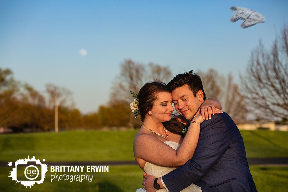Columbus-Indiana-wedding-photographer-bridal-portrait-moon-nerd-millenium-falcon-distance-sunset.jpg