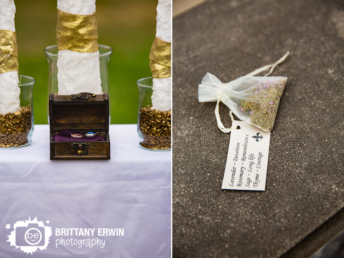 Clayshire-Castle-wedding-ceremony-altar-with-unity-candle-box-for-bands-rings-toss-herb-lavender.jpg