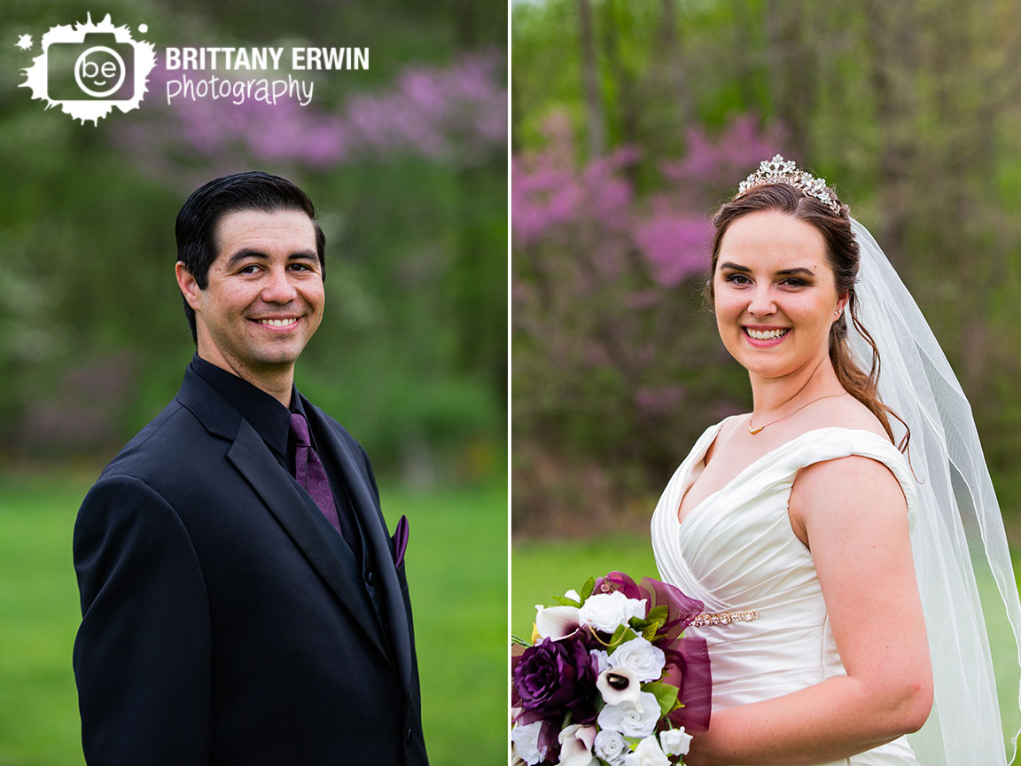 Clayshire-Castle-wedding-photographer-bride-groom-portrait-outdoor-spring-redbud-bloom.jpg