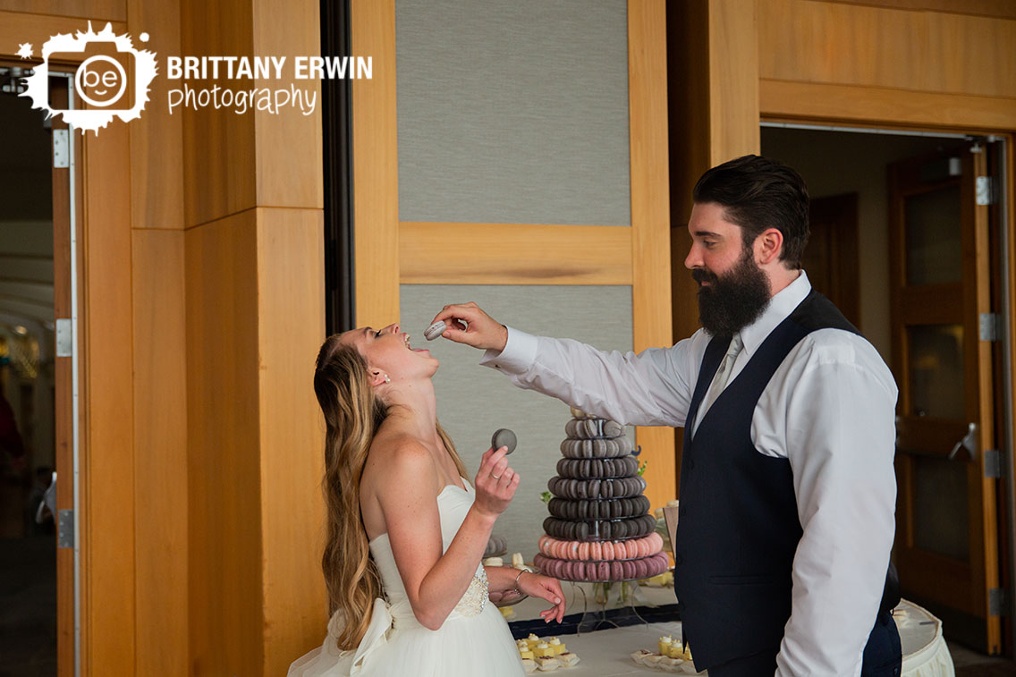 Macaron-tower-cake-cutting-bride-groom-the-gallery.jpg