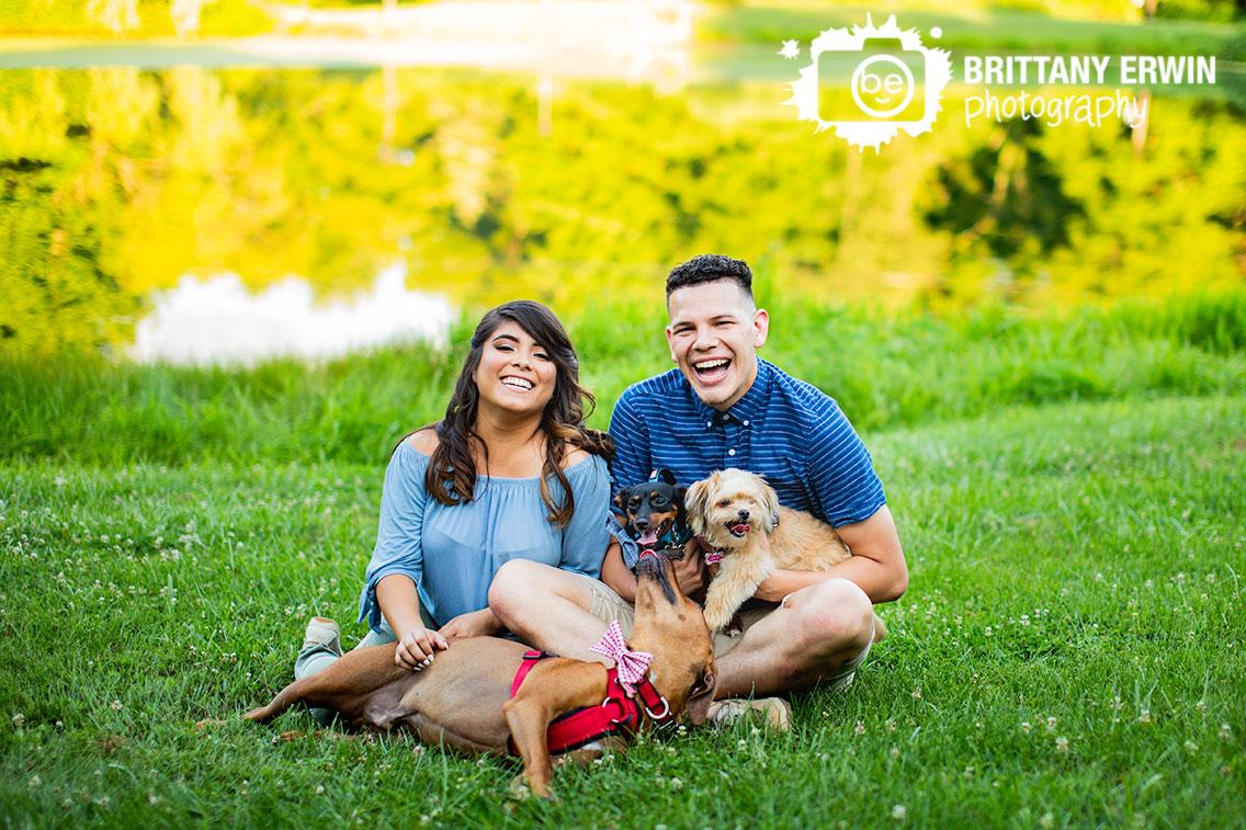 Indianapolis-engagement-portrait-pets-fun-pond-side.jpg