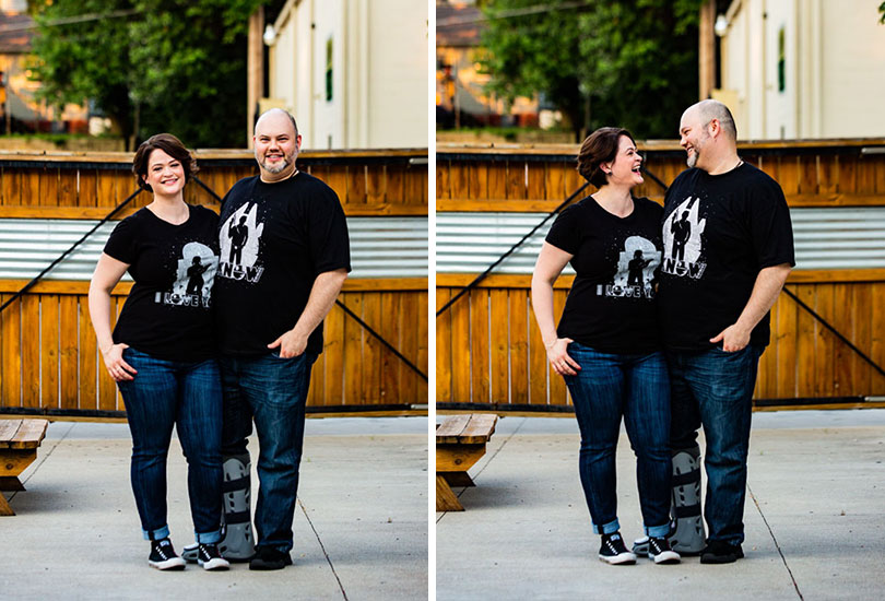 Star Wars tshirt engagement portrait