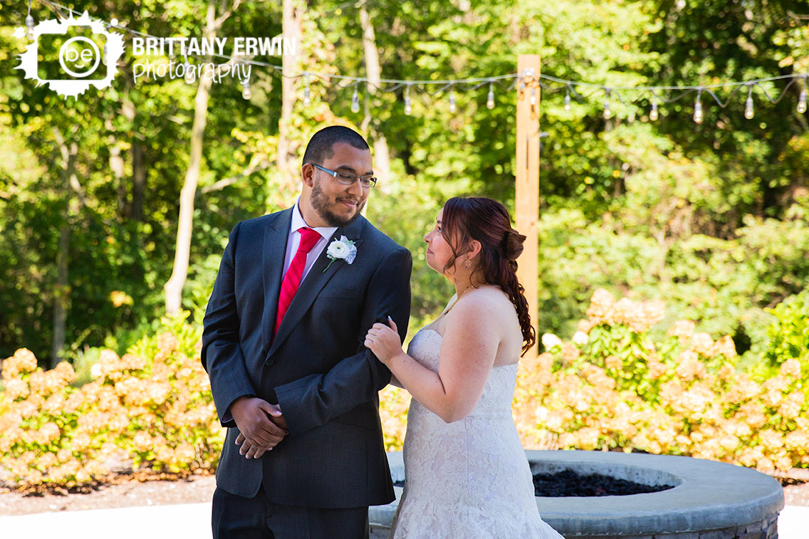 Sycamore-at-Mallow-Run-first-look-bride-groom-reaction-outdoor-red-tie.jpg