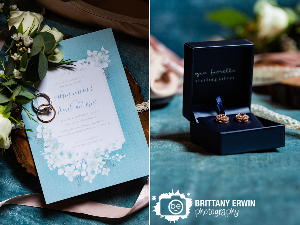 invitation-blue-couch-floral-grown-wedding-band-rings-with-matching-earrings-lace-shoes.jpg
