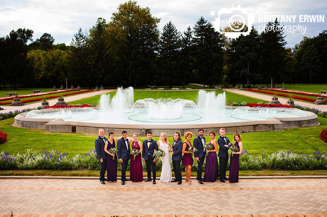 Indianapolis-wedding-photographer-bridal-party-portrait-Garfield-Park-sunken-gardens-fountain-flower-garden.jpg