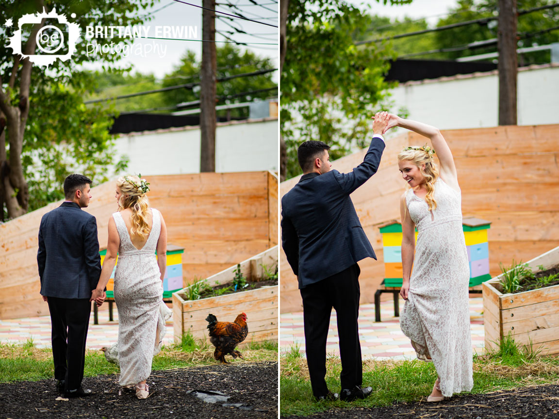 Fountain-Square-Indiana-wedding-photographer-chickens-walking-bee-hives-couple-dance-outside-portrait.jpg