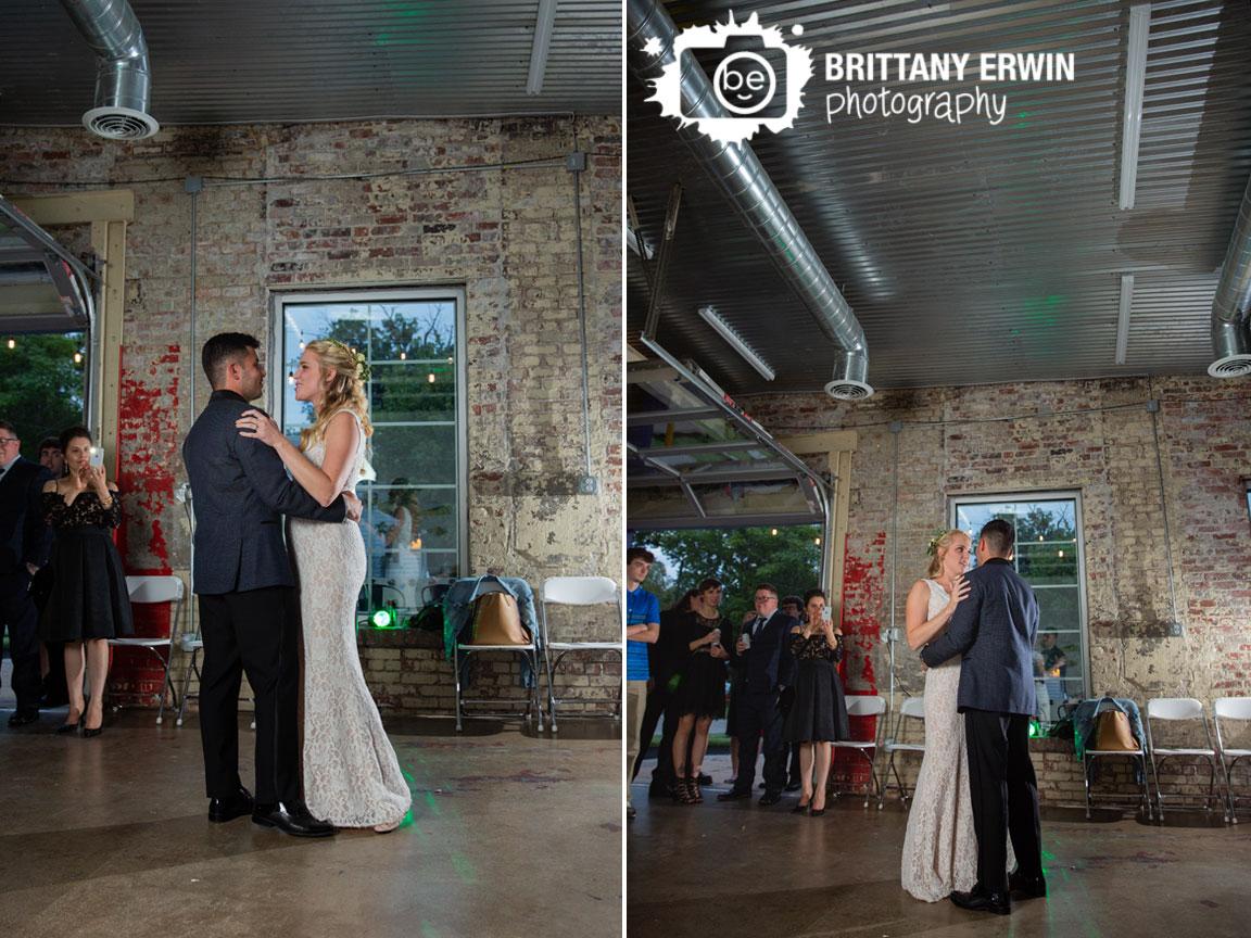 Tube-Factory-Art-Space-wedding-reception-venue-photographer-first-dance-couple-brick-wall.jpg
