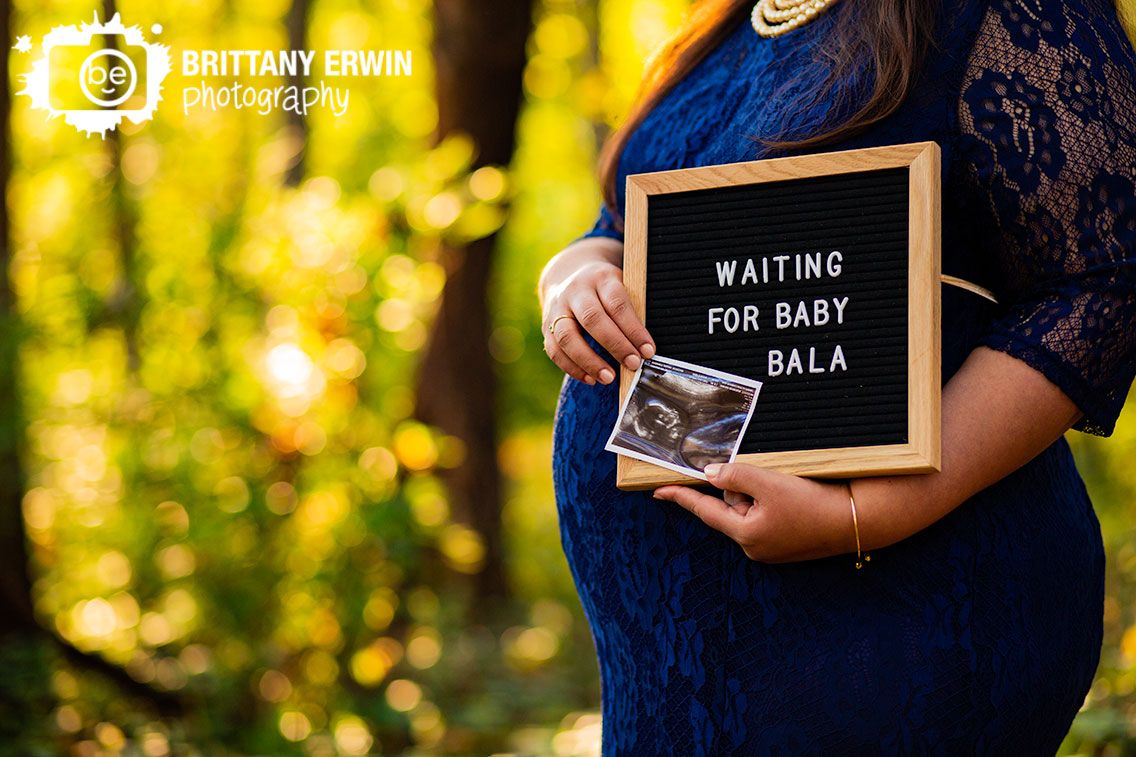 Camby-Indiana-fall-maternity-portrait-photographer-mother-to-be-letterboard-sign-waiting-for-baby-with-ultrasound.jpg