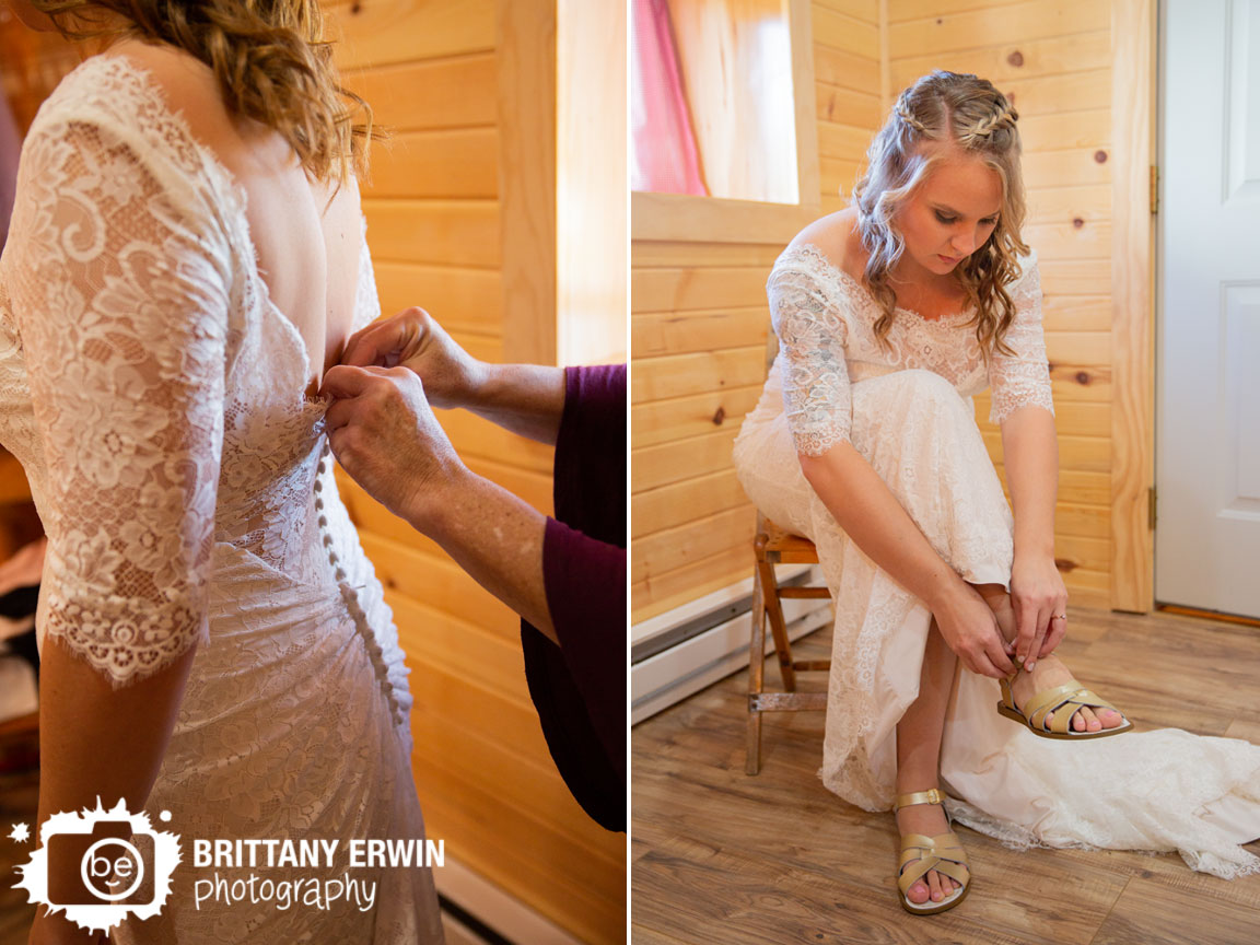 Bride-getting-ready-button-back-dress-putting-on-shoes-maggie-sottero-gown.jpg