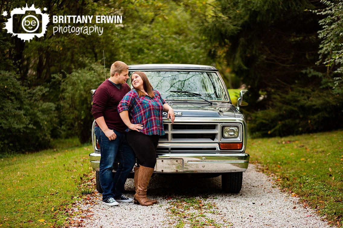 Camby-Indiana-dodge-ram-truck-engagement-portrait-photographer-outdoor-gravel-path.jpg