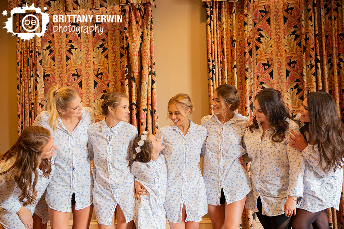 Indianapolis-Union-Station-bride-with-bridesmaids-matching-shirts-group.jpg