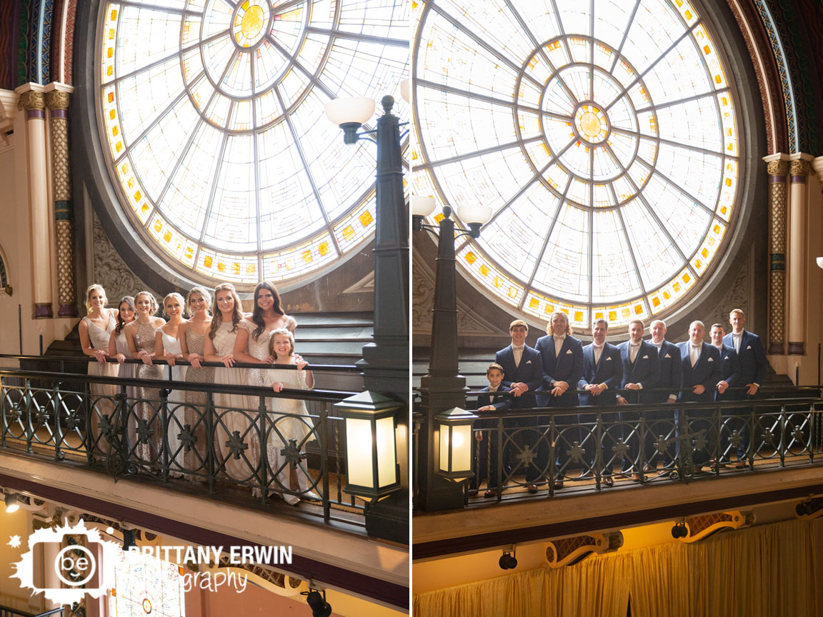 Union-station-bridal-party-bridesmaid-groomsmen-portrait-stained-glass-balcony.jpg