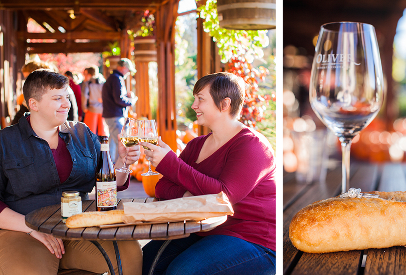 Oliver-Winery-engagement-portrait-photographer-couple-toast-wine-glasses-ring-detail-on-baguette-Oliver.jpg