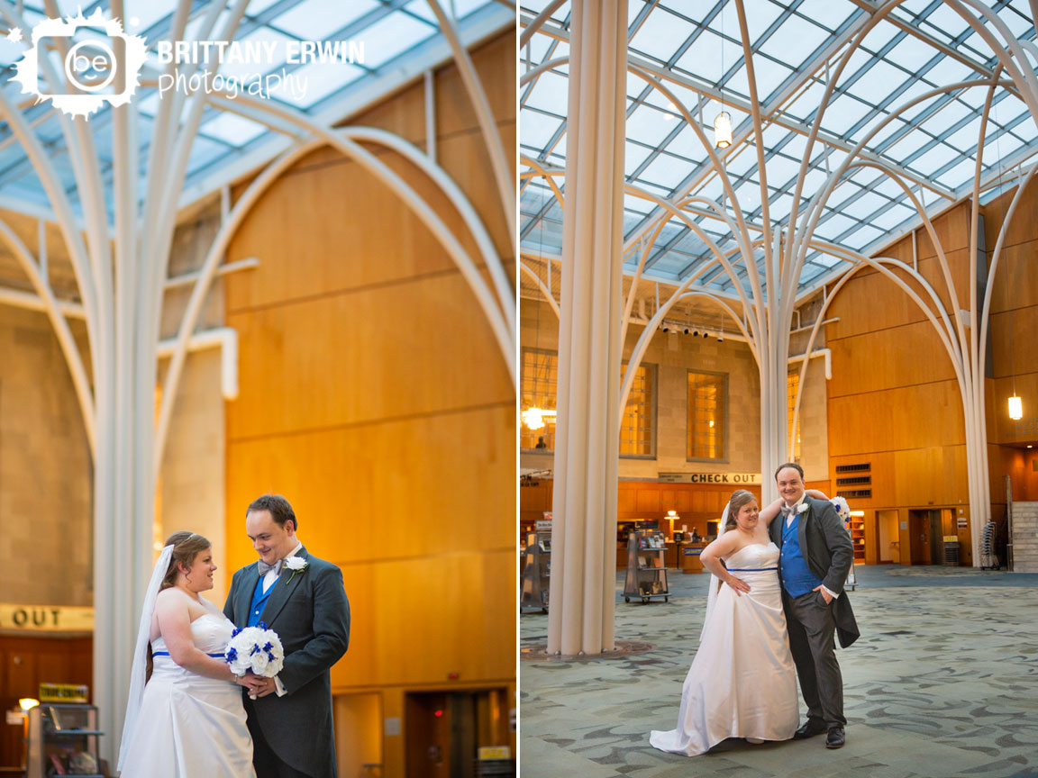 Indianapolis-central-library-wedding-photographer-bride-groom-with-pillars.jpg