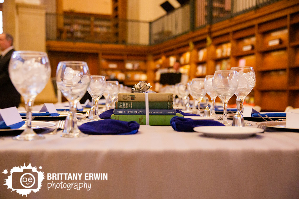 Indianapolis-wedding-photographer-central-library-antique-books-centerpiece-with-paper-flower.jpg