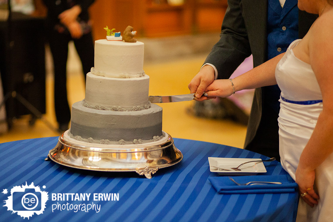 Indianapolis-central-library-wedding-photographer-cake-cutting-knife-grey-icing-with-dragon-reading-topper.jpg